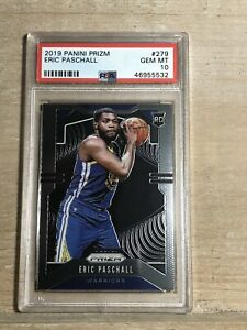 ERIC-PASCHALL-2019-20-PANINI-PRIZM-279-RC-ROOKIE-WARRIORS-PSA-10-GEM-MINT-z2