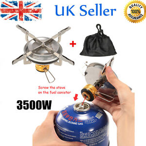Lixada Portable Stainless Steel Folding Wood Stove Camping Cooking Stove UK