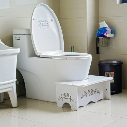 Toilet Squatty Step Stool Bathroom Potty Squat Constipation Piles Relief Chair
