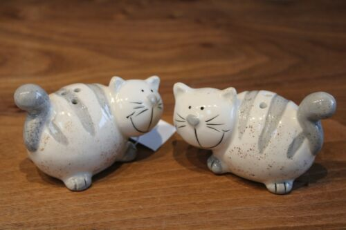 8 x 5 x 5,5 cm Salz Salz//Pfeffer und Pfefferstreuer Katze aus Keramik