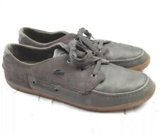 2fdb54a1045efc item 4 Lacoste Men s Shoes Sz 14 Crosier Sail Gray Leather suede Sneakers  Boat Shoes. C -Lacoste Men s Shoes Sz 14 Crosier Sail Gray Leather suede  Sneakers ...