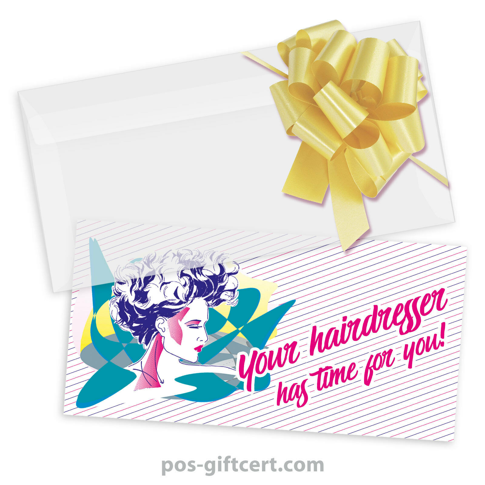 Gift vouchers + Envelopes + Pull Bows for Hair Salons, HairRobeers k9001gb