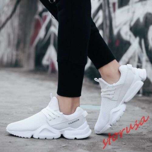 Stylish Mens Breathable Jogging Sport Shoes Lace Up Casual Sneakers Size EU39-46