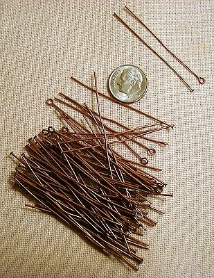 300 Silver plated copper ball head pins 2 in long 22 gauge round wire fps075c