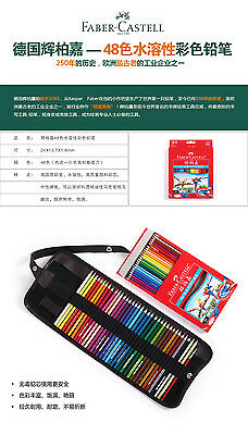 Faber Castell Colored Pencils 48 Colors Water color Drawing Set Convas Bag