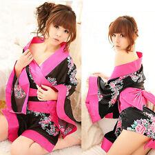 Sexy Damen Schlafanzüge Kimono Negligee Morgenmantel Dessous Kostüm Cosplay Neu