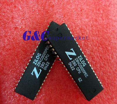 2PCS Z84C0020PEC DIP40 ZILONG NMOS/CMOS Z80 CPU CENTRAL PROCESSING UNIT NEW D1
