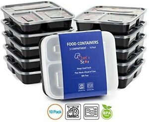 Reusable Food Storage Containers Chefs Star 10 Pack of 3