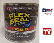 Flex Seal Liquid Rubber Sealant GRAY 32oz As Seen On TV Brush Roll Dip Pour!