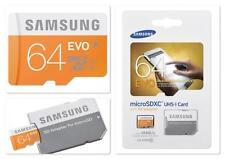 Samsung Evo 64GB Class 10 48 MB/S MicroSD SDXC UHS-I Memory Card w/ SD Adapter