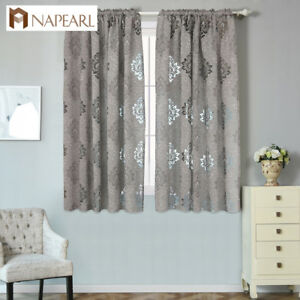 Details about NAPEARL 1 Panel Semi-sheer Jacquard Shades Kitchen Short  Curtains Bedroom Drapes