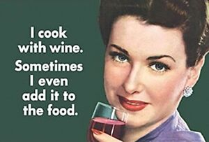 I-Cook-With-Wine-Sometimes-I-Even-Add-It-To-The-Food-funny-fridge-magnet-hb