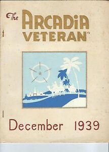 MC-235 - The Arcadia Veteran December 1939, Hope Valley RI, CCC Civilian Conserv
