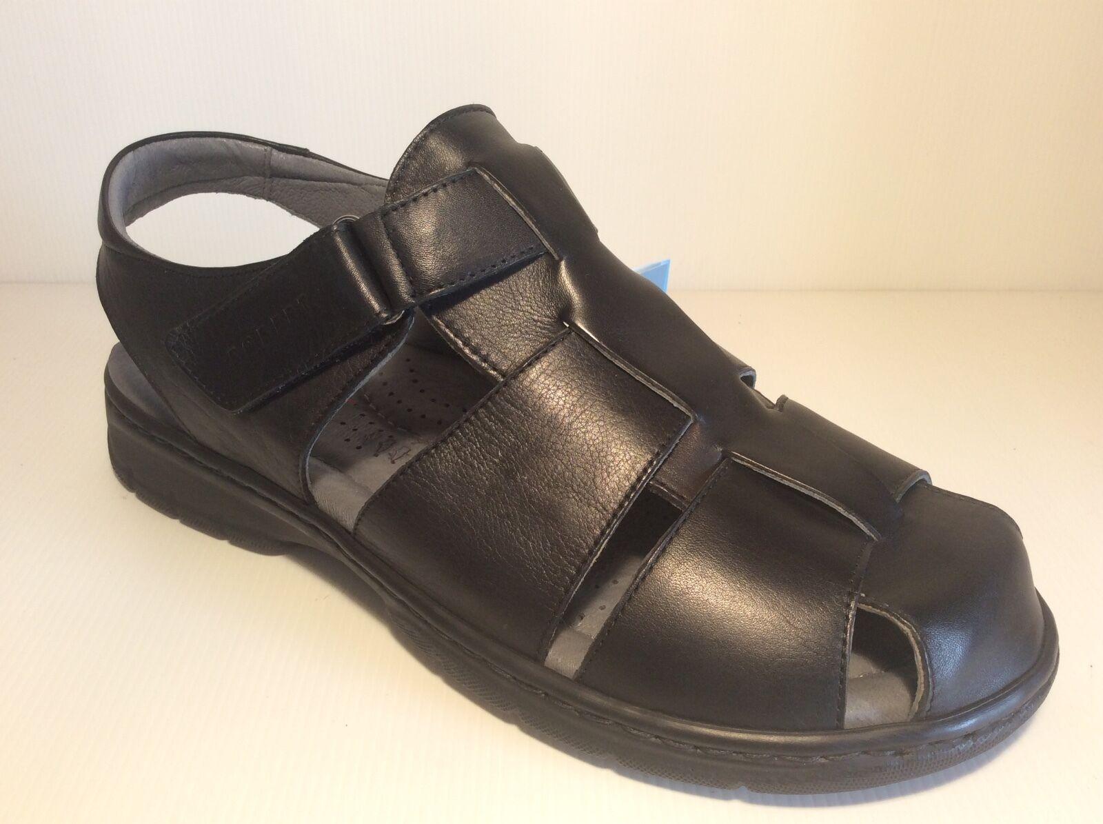Robert 85615 Schwarz Sandalen Herren Schuhe Spitze Geschlossen Comfort Leder
