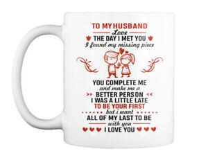 To My Husband Love The Day I Met You Gift Coffee Mug