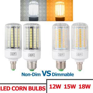 Luz-Bombilla-de-maiz-LED-regulable-18W-15W-12W-9W-Lampara-proyector-SMD-Dimmable