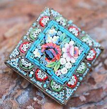 Vintage Micro Mosaic Italian Brooch Pin Costume Jewellery Retro Micromosaic