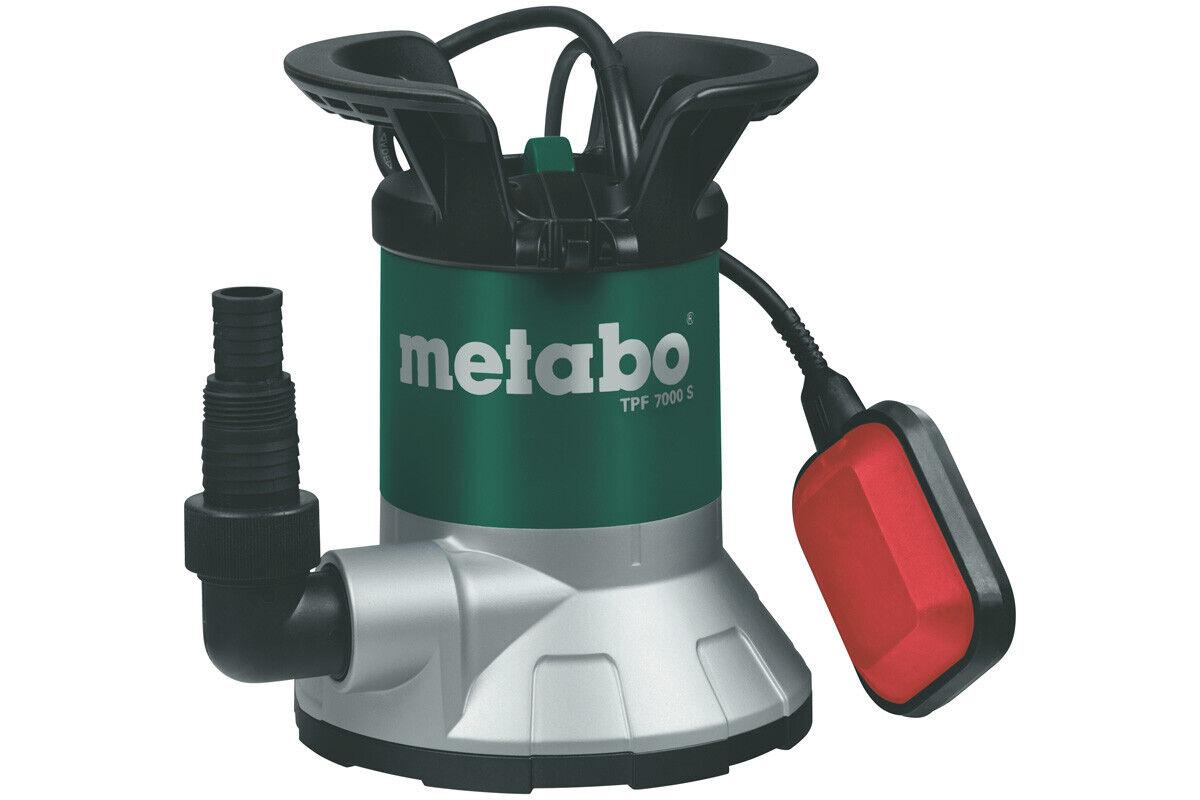 Metabo Flachsaugende Pompa Sommergibile Pulizia Acqua TPF 7000 S (0250800002)