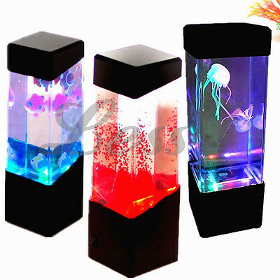 Jellyfish Underwater Aquarium Tank LED Colourful Mood Light Lamp Decoration Toy