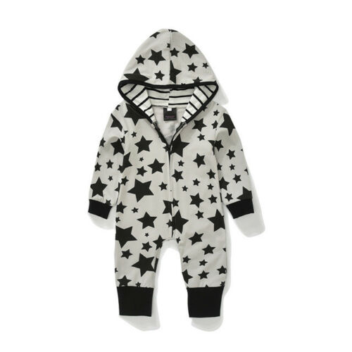 Kids Jumpsuits Fashion Rompers Newborn Long Sleeves Cotton Clothes Stars Pattern