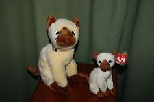 SIAM the Siamese CAT - TY Beanie Baby and BUDDY -  MWMT  -  Fast Shipping
