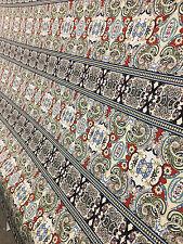 Rayon Stretch Jersey Knit Fabric horizontal Large Turkish Pasley  print  9 oz