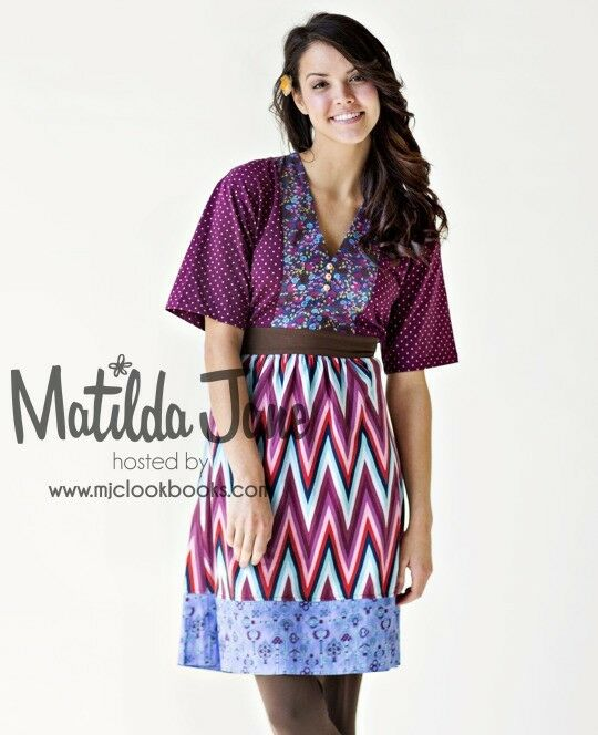 Womens MATILDA JANE Paint By Numbers Collage Kimono Dress Size M Medium EUC