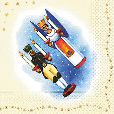 * 20 Tovaglioli Natale * * Erzgebirge * Bergmann * Angelo * 33x33cm-hnachten*serviettentechnik*erzgebirge*bergmann*engel*33x33cm It-it