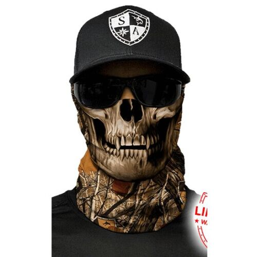 Salt Armour SA Forest Camo Skull Face Shield Sun Mask Neck Gaiter *USA*
