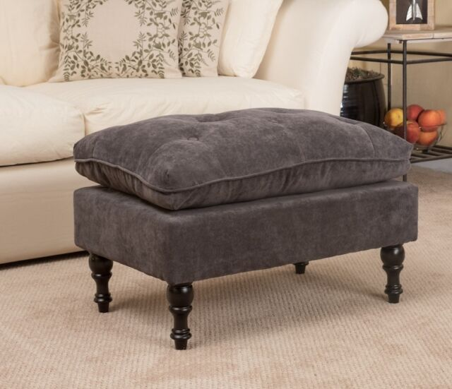 Peachy Tufted Ottoman Foot Stool Large Ottomans Gray Affordable Living Room Furniture Dailytribune Chair Design For Home Dailytribuneorg