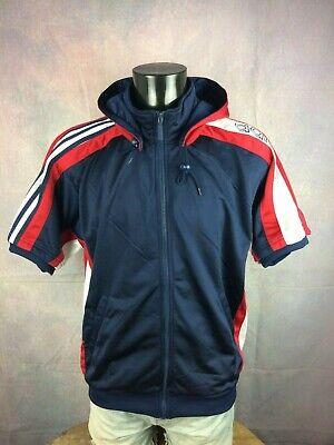 Veste Adidas Trefoil Bleu 90'S Vintage Oldschool Jacket