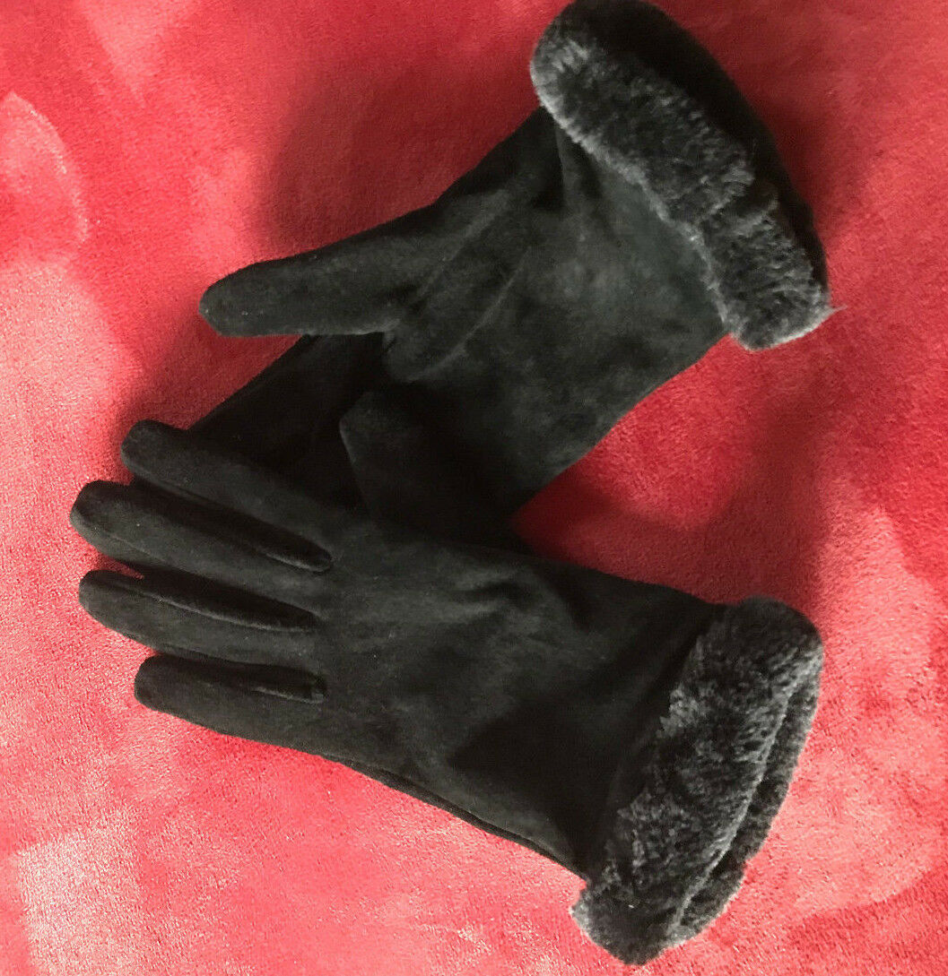 Original DENTS Damen  Handschuhe m. Fell Luxus pur in schwarz  neuw.   Preisreduktion    Genialität    Haltbarkeit