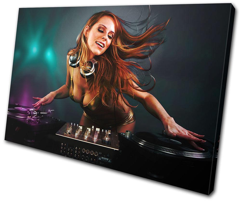 Erossoic Girl DJ Club SINGLE TELA TELA TELA parete arte foto stampa 158566