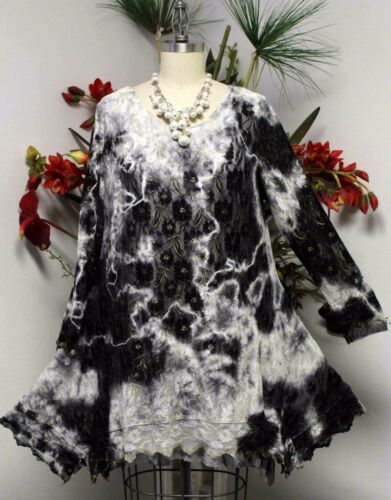 Design Today Lace and Net Designer Tunic with Tie Dye