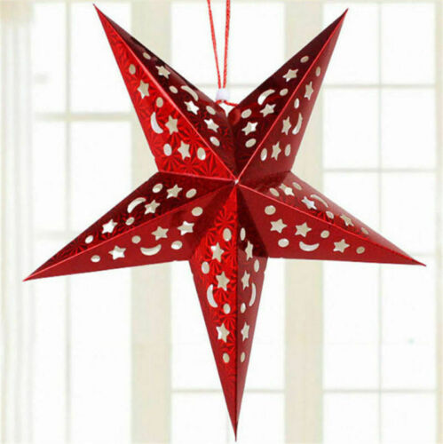 Christmas String Hanging Star Home Party Decoration Xmas Tree Ornament