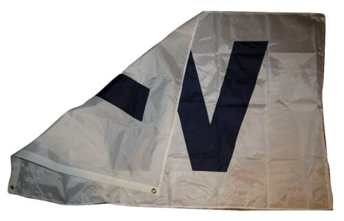 """3x5 Embroidered Chicago Win Dark Large /"""" W /"""" 210D Nylon Flag 3/'x5/' w// Clips"""