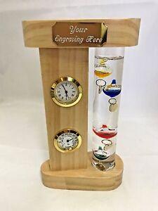 Thermometer-Galileo-Clock-amp-Hygrometer-Engraved-FOC-MPN-G103