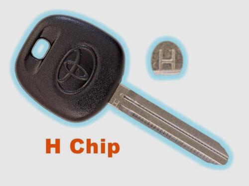 set of 3 Toyota TOY44H Transponder Master Key H Chip 2014-2018