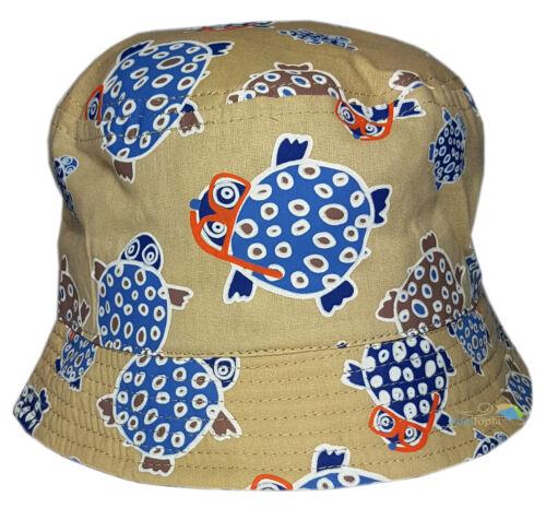 BABY Toddler tartaruga design sole Bush Hat Ragazzi Ragazze Estate Cotone Cappuccio Nuova