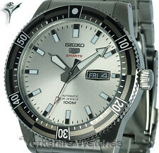 New SEIKO SPORTS RADIANT SILVER FACE WITH STAINLESS STEEL BRACELET SRP729J1