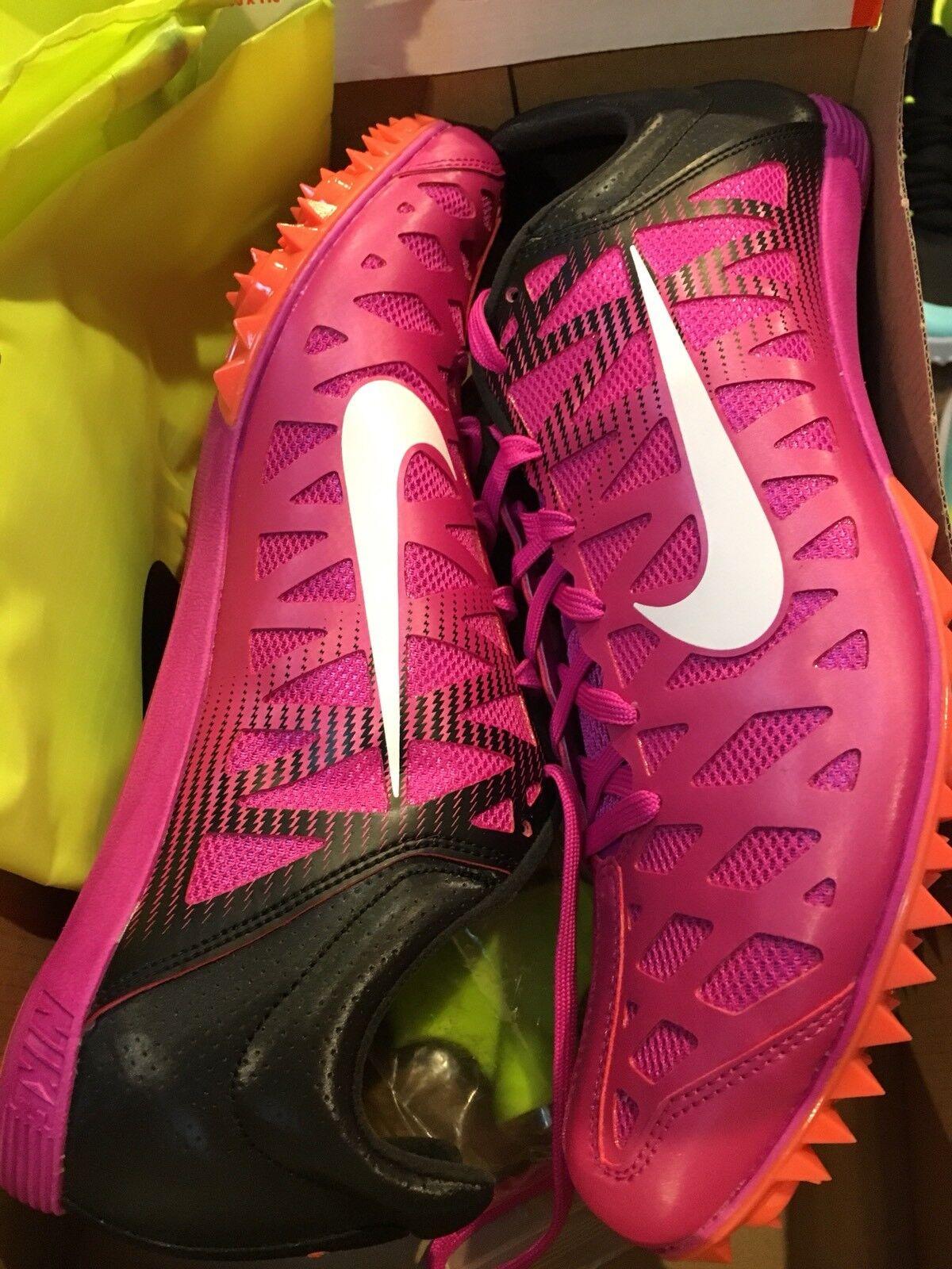 best sneakers bd1ea 0fb9a ... Nike Nike Nike Zoom Maxcat 4 Track Field shoes Fire Pink 549150-601  Mens Sz ...