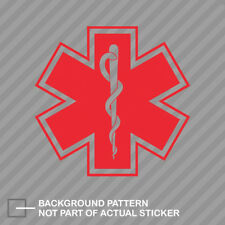 """Sunflower Yellow Star of Life 3/"""" Die Cut Reflective EMT Paramedic Decal//Border"""