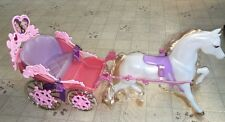 Rapunzel Barbie Botticelli & Carriage 2002 White Horse Fairytale Princess EUC