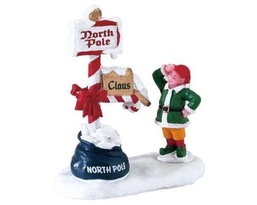Santa Claus Lemax Merry Mailbox Weihnachtsdorf 645 Weihnachtsfiguren