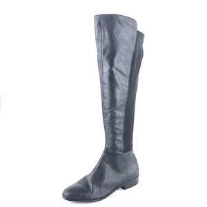 3ca7b9a080b6 Michael Kors Arley Black Leather Knee High Riding Boots Women s Size ...