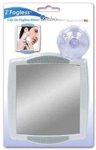 Zadro 5X-1X LED Lighted Power Zoom Cordless Shower Fogless Mirror Z900SS NEW