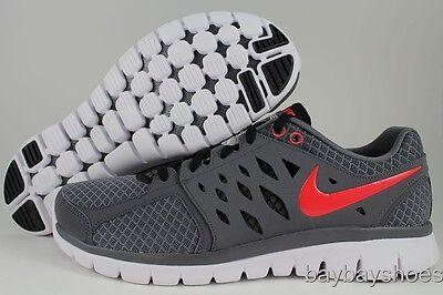 Nike Mens Flex 2013 Chaussures De Course - Gris / Pimento