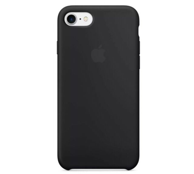 Apple Iphone 7/8 Fin Grande Manutention COQUE Véritable Silicone Housse - Noir