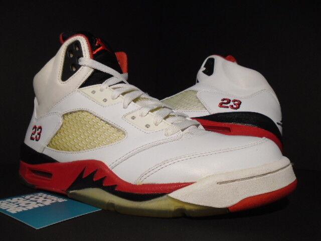 2006 Nike Air Jordan V 5 BLACK Retro WHITE FIRE RED BLACK 5 WOLF GREY 136027-162 OG 9 de1b0a