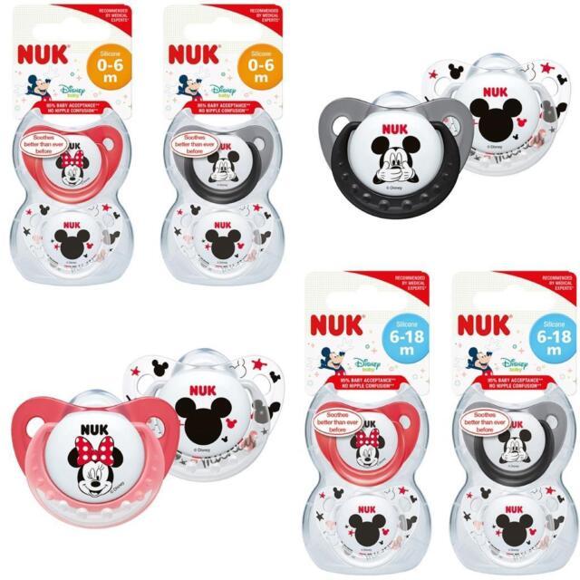Nuk Disney Minnie/Mickey Chupetes 0-6m/ 6-18 M 2Pk
